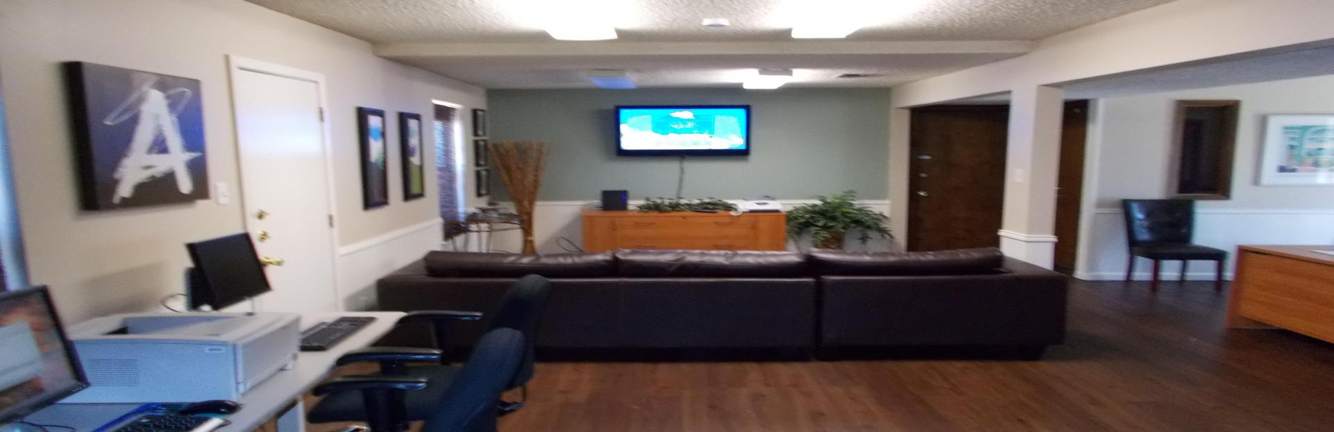 Highland Heights Men's Sober Home Living Room